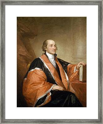 John Jay, 1794, First Chief Justice Of The United States Supreme Court  Framed Print by Gilbert Stuart