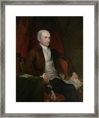 John Jay Framed Print by Gilbert Stuart