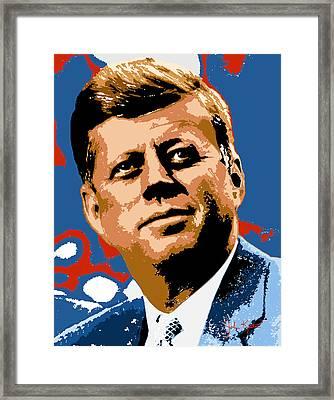 John Kennedy 1962 Framed Print by John Keaton