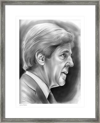 John Kerry Framed Print by Greg Joens