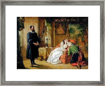John Knox Reproving Mary Framed Print