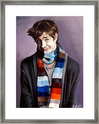 John Krasinski Framed Print by Emily Jones