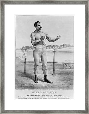 John L. Sullivan (1858-1918) Framed Print