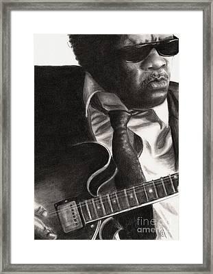 John Lee Hooker Framed Print by Kathleen Kelly Thompson