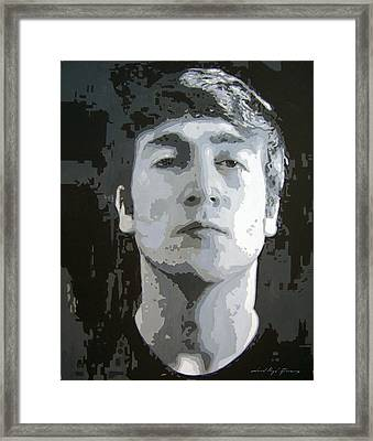 John Lennon - Birth Of The Beatles Framed Print by David Lloyd Glover