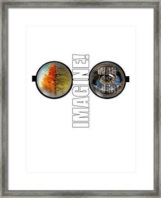 John Lennon - Imagine Framed Print by Lee Brown