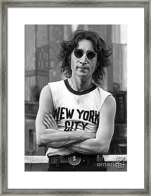 John Lennon Framed Print by Andre Koekemoer