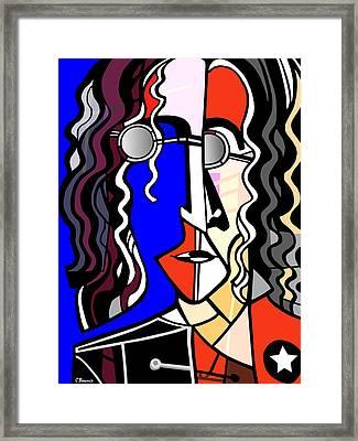 John Lennon Framed Print by C Baum