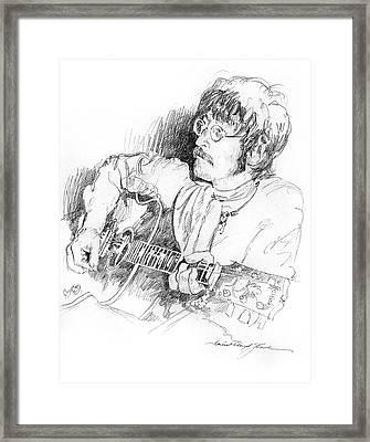 John Lennon Framed Print by David Lloyd Glover