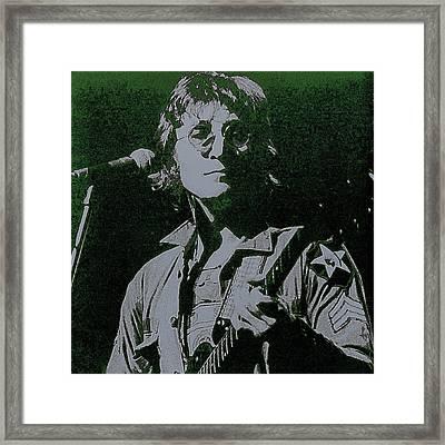John Lennon Framed Print by David Patterson