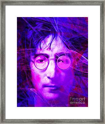 John Lennon Imagine 20160521 V2 Framed Print by Wingsdomain Art and Photography