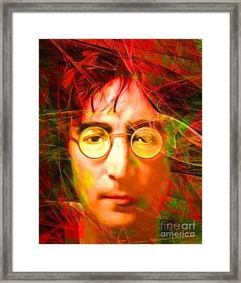 John Lennon Imagine 20160521 Framed Print by Wingsdomain Art and Photography