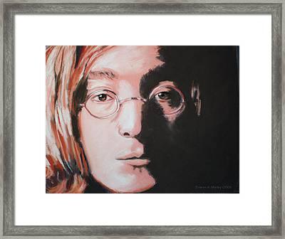 John Lennon  Imagine Framed Print by Sharon Morley  APS