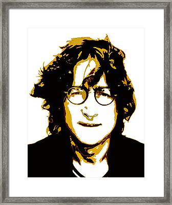 John Lennon In Shades Of Brown Framed Print by Jera Sky