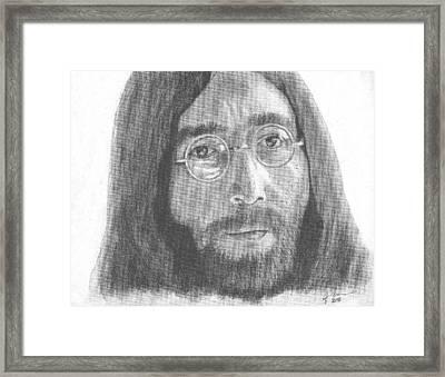 John Lennon Framed Print by Jeff Ridlen