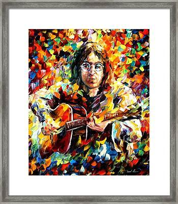 John Lennon Framed Print by Leonid Afremov
