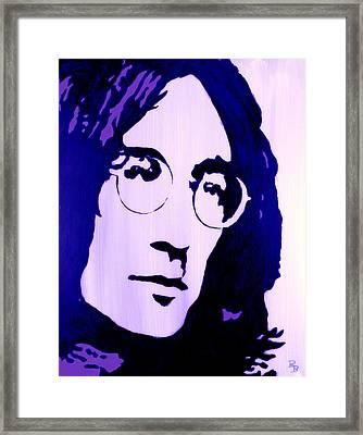 John Lennon, Little Boy Blue Framed Print