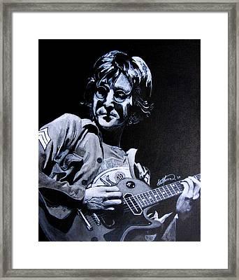 John Lennon Framed Print by Luke Morrison