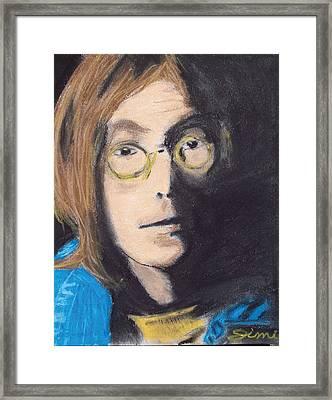 John Lennon Pastel Framed Print by Jimi Bush