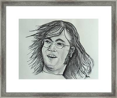 John Lennon Framed Print by Pete Maier