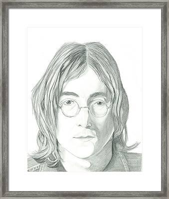 John Lennon Portrait Framed Print by Seventh Son