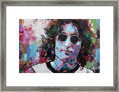 John Lennon Framed Print by Richard Day