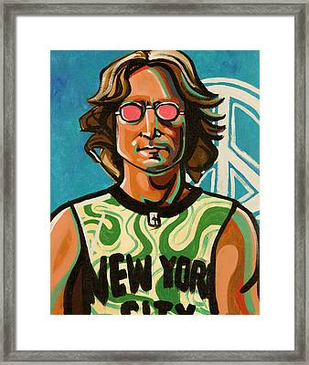 John Lennon Framed Print by Rob Tokarz