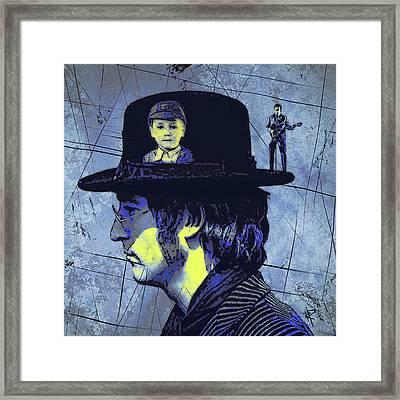 John Lennon Framed Print by Russell Pierce