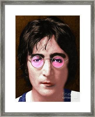 John Lennon The Beatles 20160522 Framed Print by Wingsdomain Art and Photography