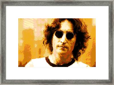 John Lennon Watercolor Framed Print