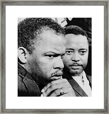 John Lewis Left And Hosea Williams Framed Print