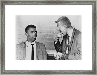 John Lewis Talks With Fellow Freedom Framed Print by Everett