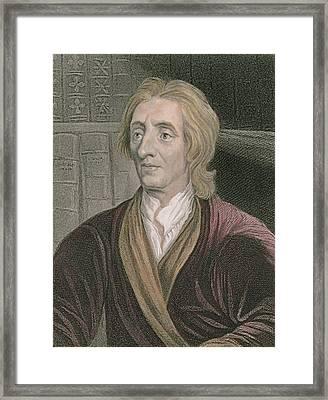 John Locke Framed Print by Sir Godfrey Kneller
