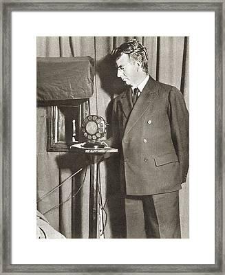 John Logie Baird, 1888 - 1946. Scottish Framed Print