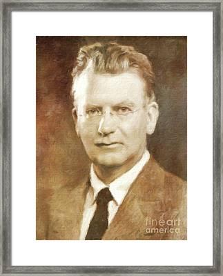 John Logie Baird, Inventor By Mary Bassett Framed Print by Mary Bassett