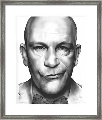 John Malkovich Framed Print by Greg Joens
