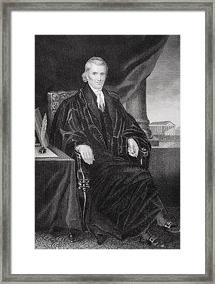John Marshall 1755-1835. American Framed Print by Vintage Design Pics
