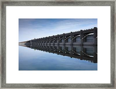 John Martin Dam And Reservoir Framed Print by Ernie Echols