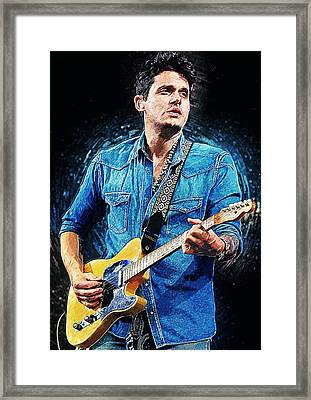 John Mayer Framed Print