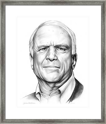 John Mccain Framed Print by Greg Joens