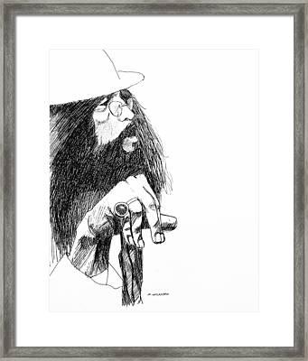 John Framed Print by Michael Wicksted