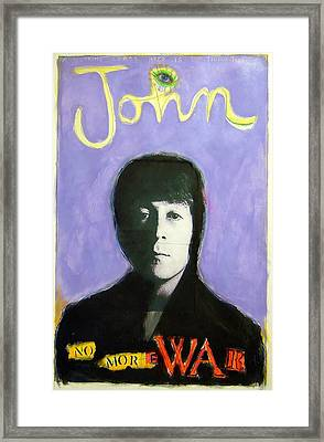 John Framed Print by Mike  Mitch