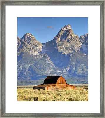 John Moulton Barn - Grand Teton National Park Framed Print