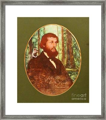 John Muir With Chip On His Shoulder Framed Print by Kean Butterfield