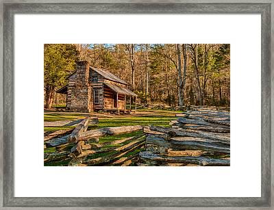 John Oliver Cabin Cades Cove Framed Print