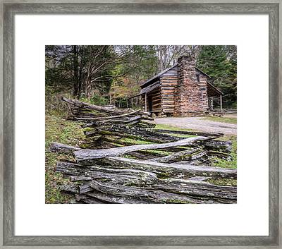 John Oliver Place - Great Smoky Mountains National Park Framed Print by Wes Iversen