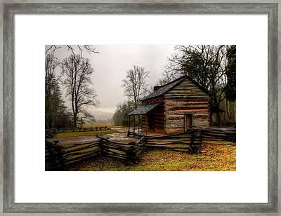 John Oliver's Cabin In Cades Cove Framed Print