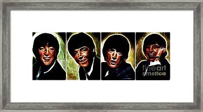 John, Paul, George And Ringo Framed Print