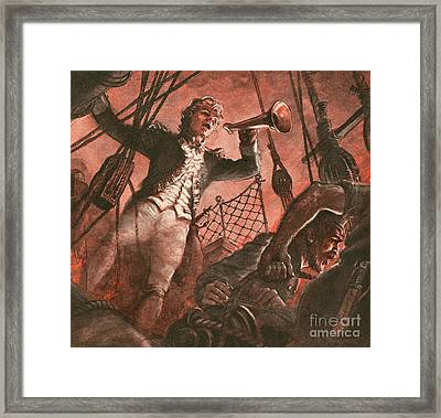 John Paul Jones, Founder Of The American Navy Framed Print by Peter Jackson