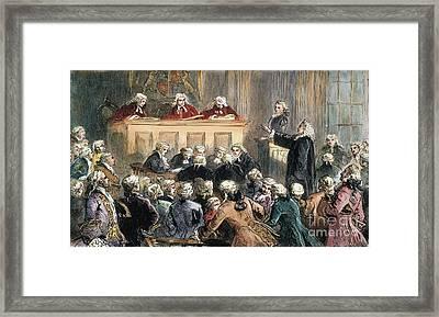 John Peter Zenger Trial Framed Print by Granger